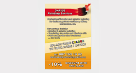 Darius Painting Services - Flayer A6