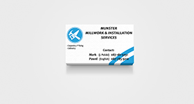 Munster Millwork & Installation Services - Business Cards